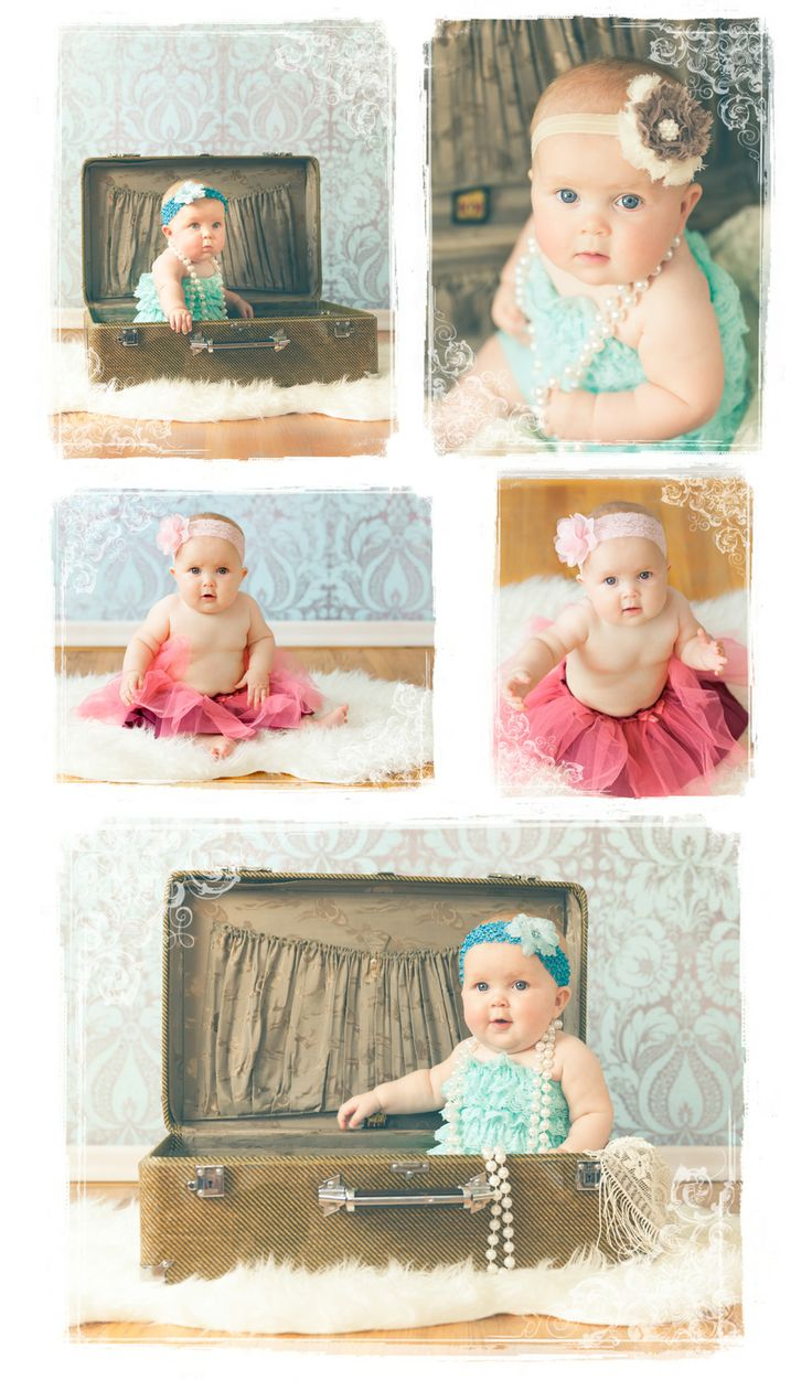 Vintage Baby Pictures!  6 month photos