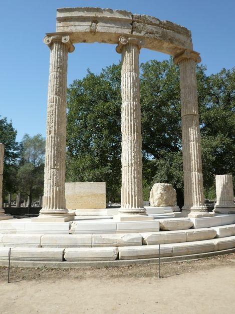 Olympia, Greece - incredible!  an earthquake tumbled many of the pillars... restoration under works