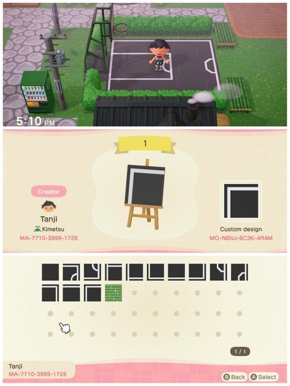 Made A Basketball Court Today Acqr In 2020 Animal Crossing Animal Crossing Qr Animal Crossing Characters