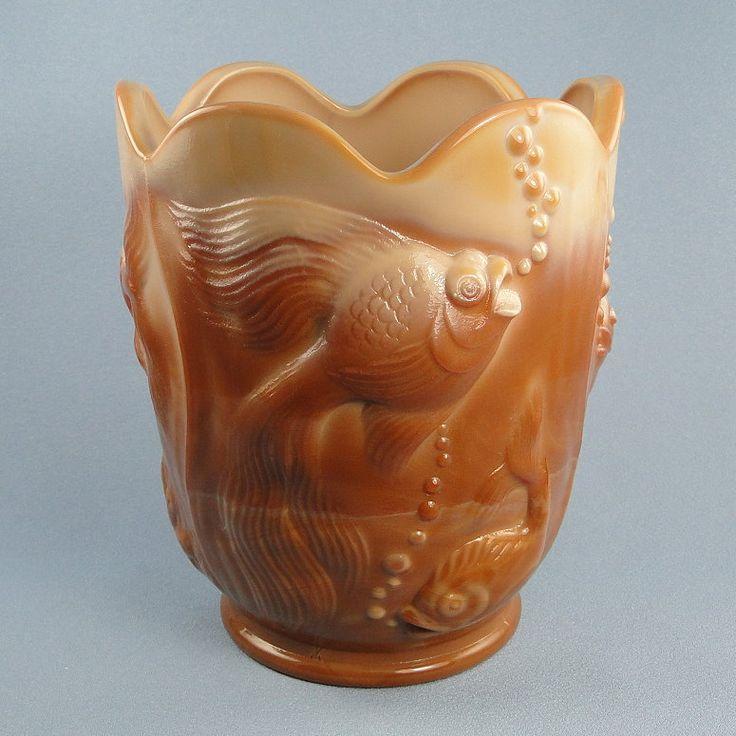 Fenton Glass Chocolate Atlantis Vase 100th Anniversary