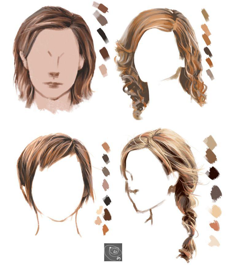 How to draiwng hairs in Photoshop (Emma Watson'), eunbi ko on ArtStation at https://www.artstation.com/artwork/ZkZON