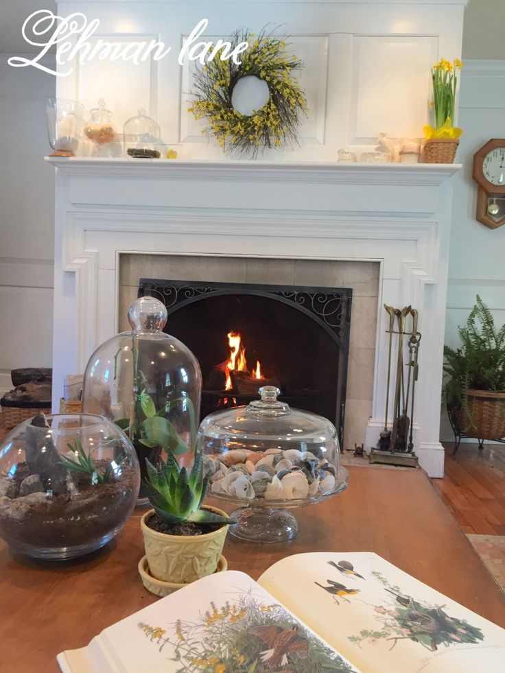 Spring Mantel Decorating Inspired By Yellow Our