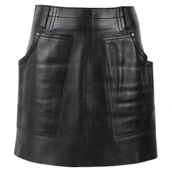 Pre-owned Coach Leather Mini Skirt (11.950 RUB) ❤ liked on Polyvore featuring skirts, mini skirts, black, short mini skirts, mini skirt, leather mini skirt, genuine leather skirt and short skirts
