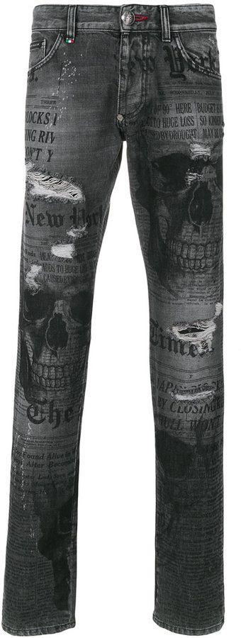 Philipp Plein Times straight cut jeans