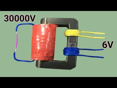 Homemade 6V to 30000V transformer - YouTube | Fardus Tech
