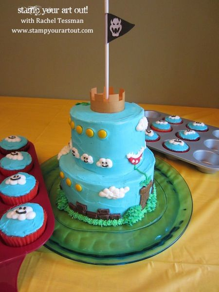 Mario Birthday Cake: Stamp Your Art Out!