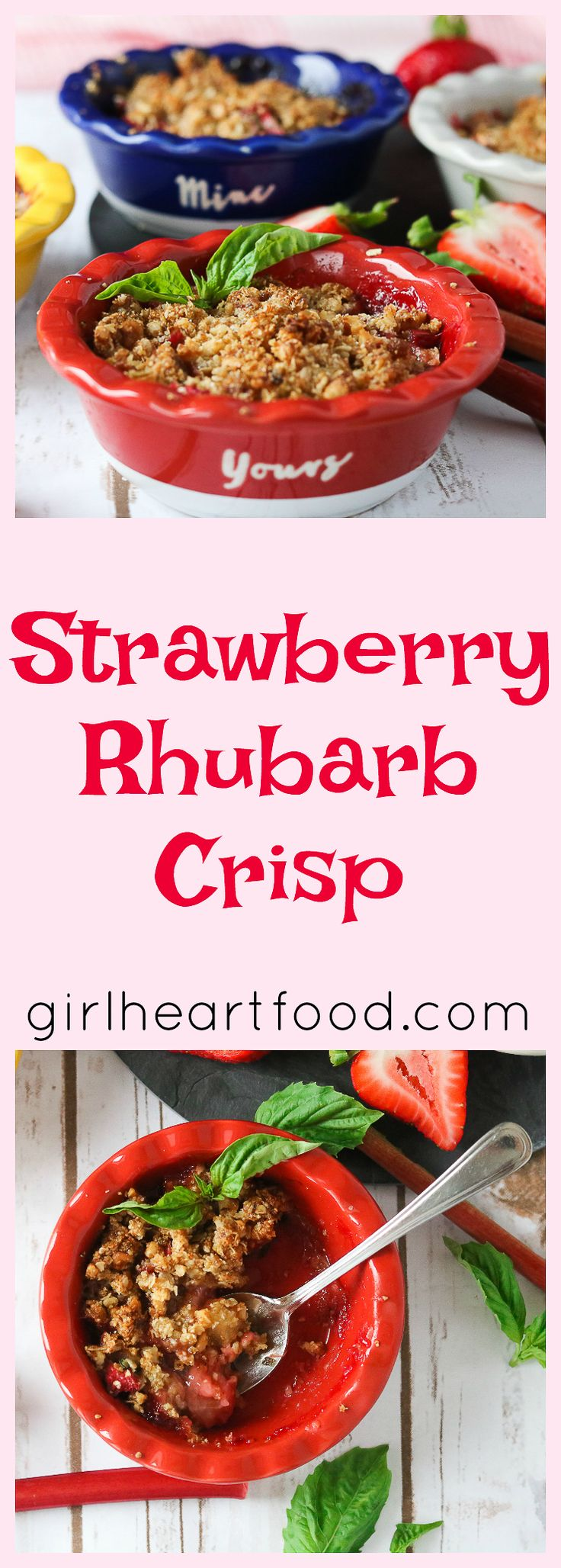 ~ Strawberry Rhubarb Crisp ~ A bit tart and a touch sweet with a buttery crumble, this Strawberry Rhubarb Crisp is a quintessential summer dessert that can be put together in minutes!  When assembled, just place in the oven until the fruit is bubbling and the top has browned.  You're going to love this one! Hi guys!  How …
