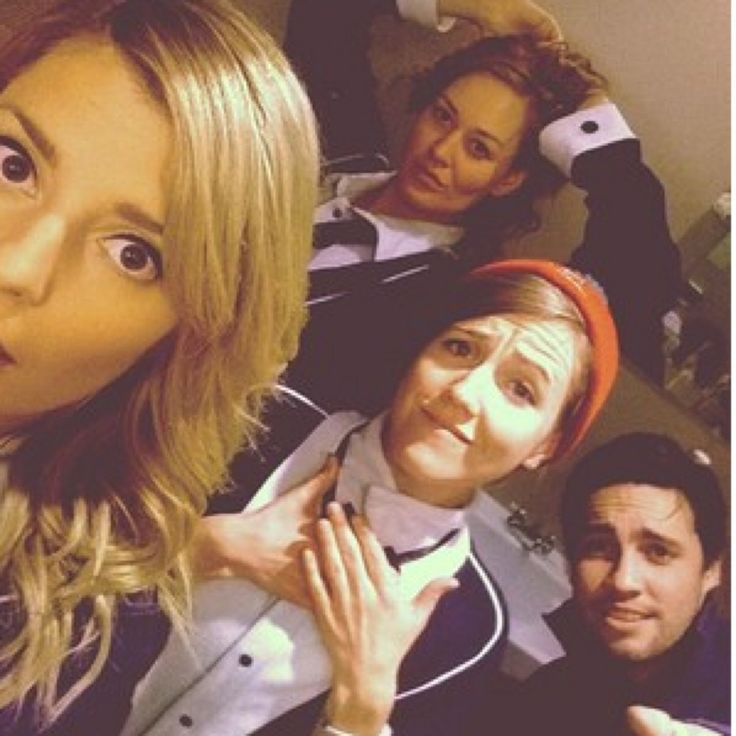 Grace Helbig, Mamrie Hart, Hannah Hart and Chester See, The cast of Youtubers for Camp Takota