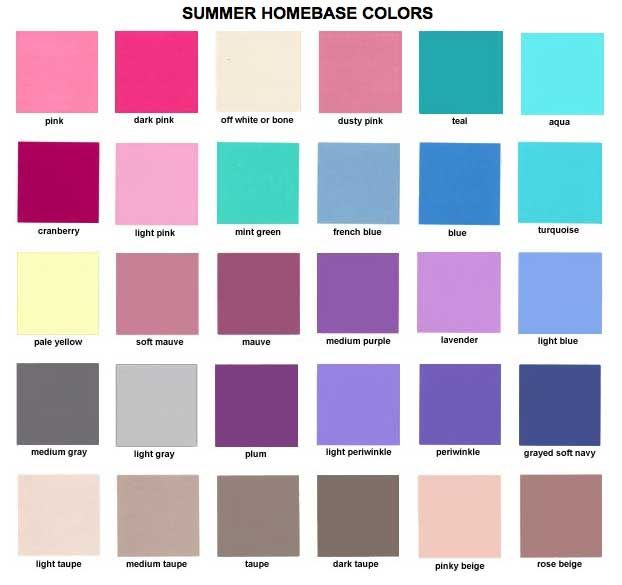 Kleuren Zomertype. Kleuren en Kleurcombinaties voor kleding haar en make-up #kledingkleuren www.coloru.nl