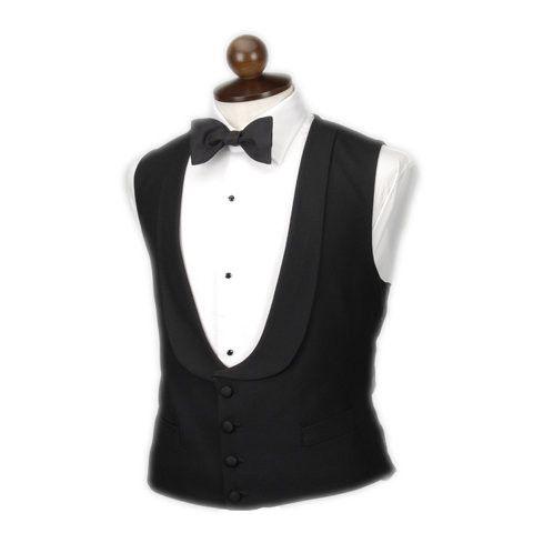 Black evening waistcoat.