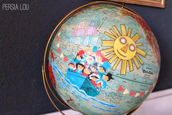 it's a small world decorations | It's a Small World Globe | Persia Lou