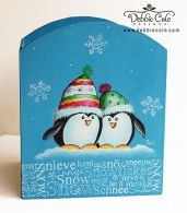 #Stampendous Jumbo Penguin Stamp and @DecoArt Inc. paints by @Debbie Cole