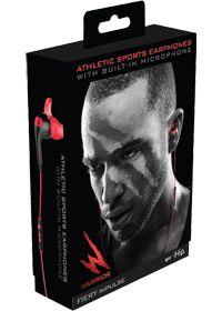 #VSsummersweepstakes iHip   Red Fiery Impulse Sport Buds W/Mic & Vol Cntrl                , 1.0 Each , Headphones