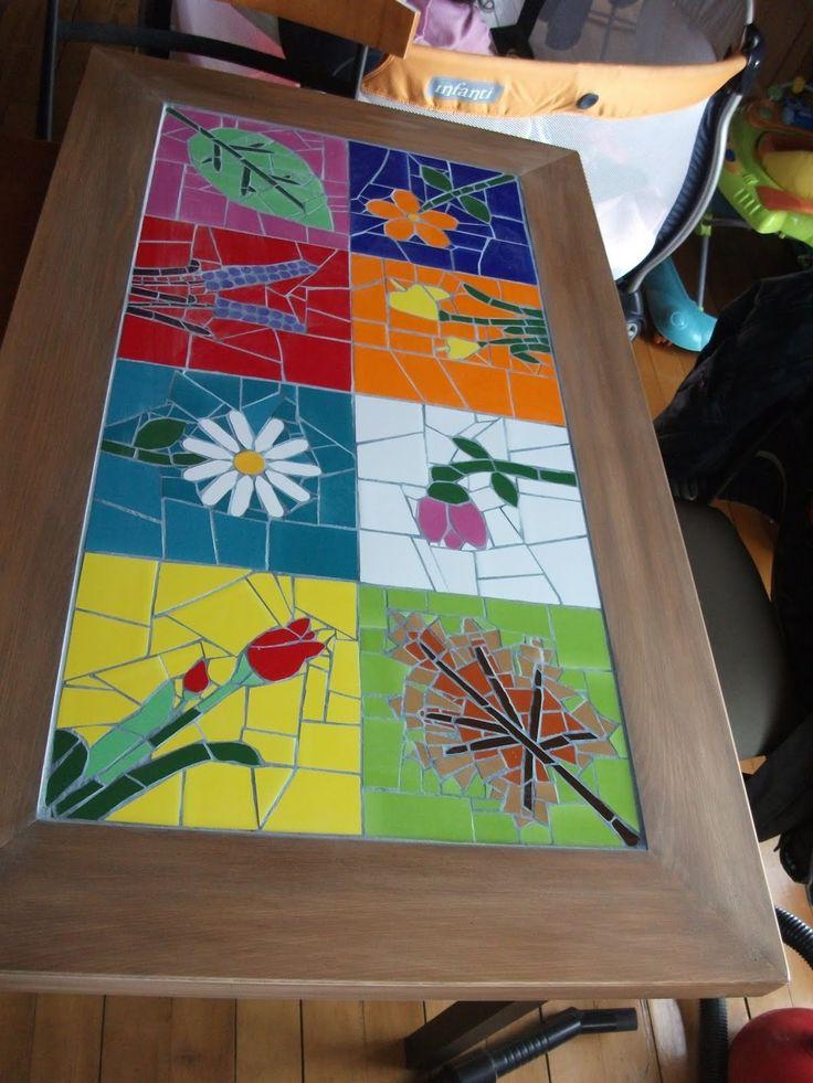 Resultado de imagen para mesas de centro CON MOSAICOS