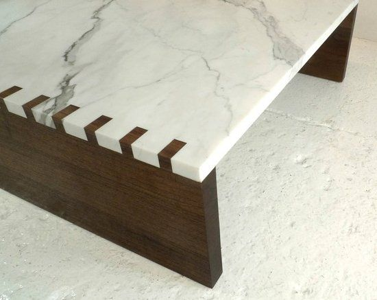 Walnut and Marble Mix Marvelously in the New Zaragosa Coffee Table