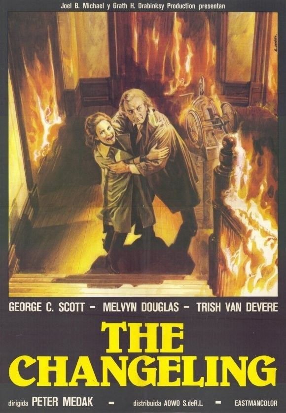 THE CHANGELING (1980) - George C. Scott - Melvyn Douglas - Trish Van Devere - Directed by Peter Medak - Columbia Pictures - Movie Poster.