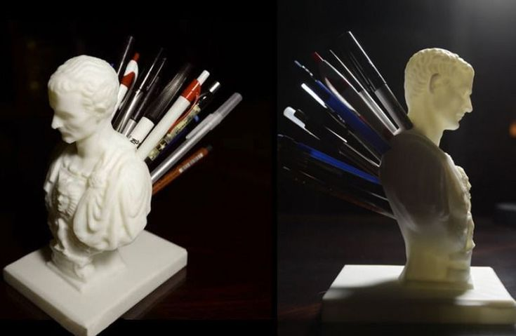Julius Caesar Pencil Holder , 3D printed using biodegradable plastic made from corn starch or cane sugar #toys #fun #3d #printed #creative #decor #office #pen #holder #3dprintertoys