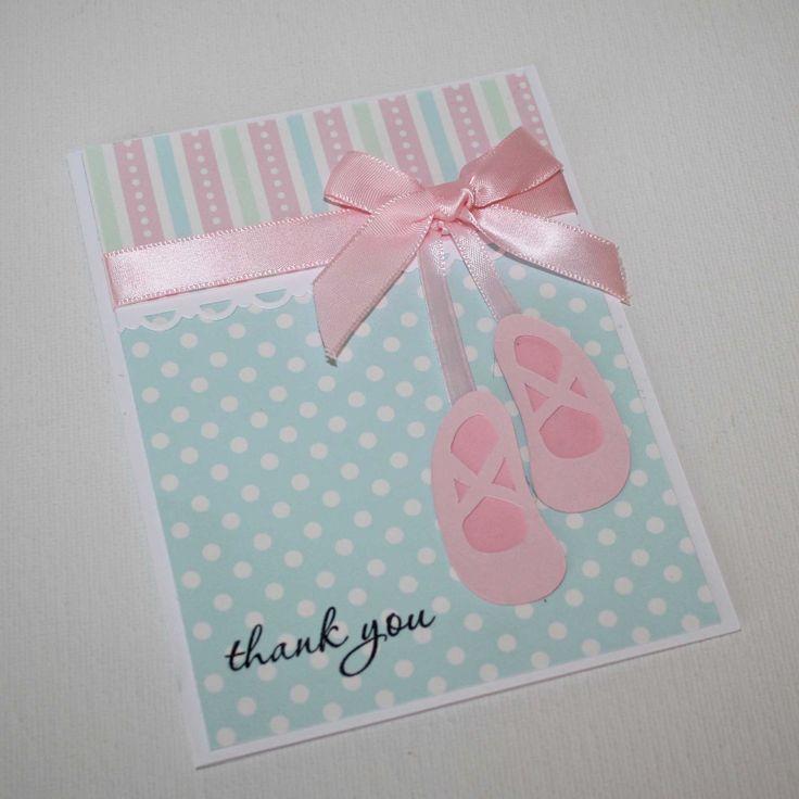 Ballerina thank you cards - ballet slipper, ballet card, set of 12. $35.00, via Etsy.