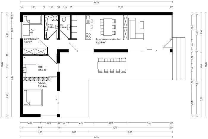 25 besten grundrisse bilder auf pinterest grundrisse for Mobiles wohnen im minihaus