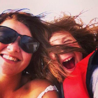 "This picture looks like me and my niece`s daughter. (#holidaysmiles #competition entry via Facebook | Mel Crumpton says ""In Thailand on a speedboat, love this picture with y neice having so much fun"" 