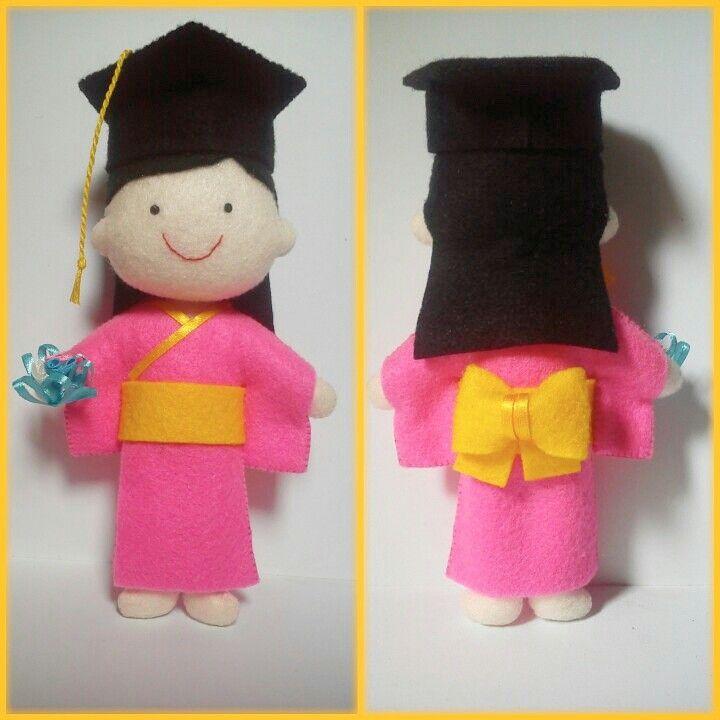 i'm wearing yukata for my graduation day