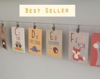 Alphabet Cards A to Z Animal Alphabet Card Set by DesignByMaya
