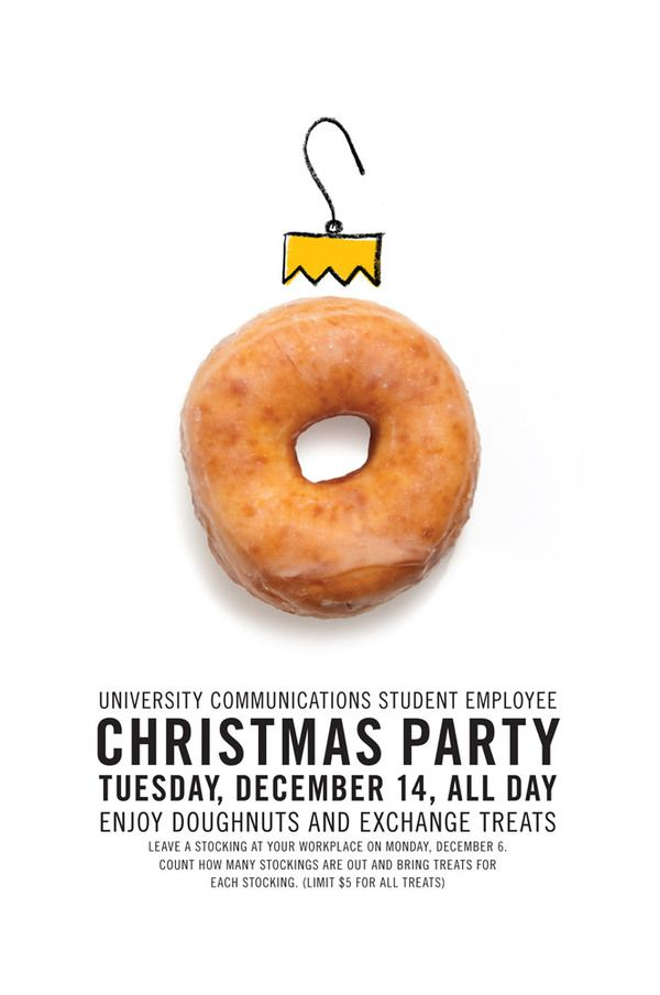 Christmas Party, invitation, Adrian Walsh / repinned on toby designs
