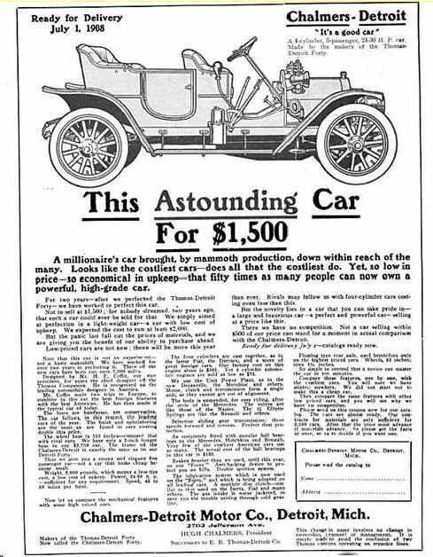 1909 Chalmers-Detroit Automobile Advertisement