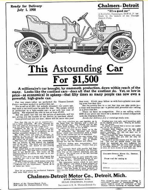 1908 Chalmers-Detroit Advertisement