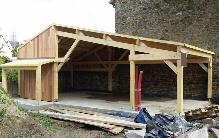 1000 ideas about carport bois on pinterest auvent for Bois construction exterieur