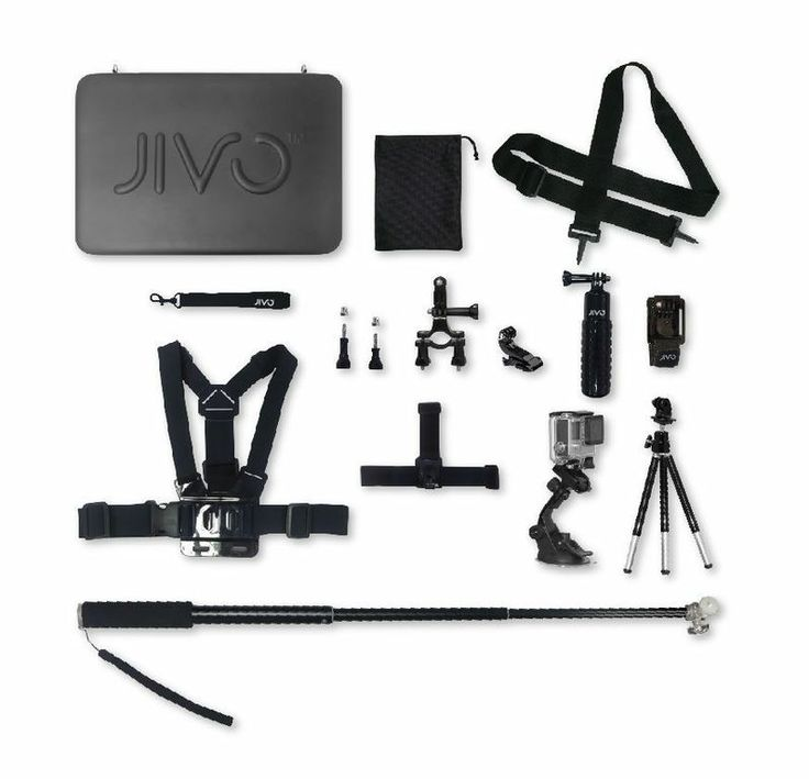 Jivo go gear kit for GoPro & action cams (11 piece kit) | hardtofind.