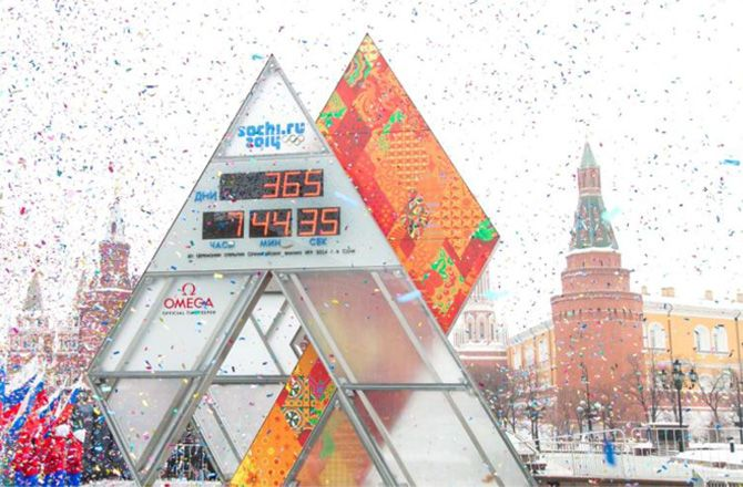 Omega Countdown Clock in Sochi Russia