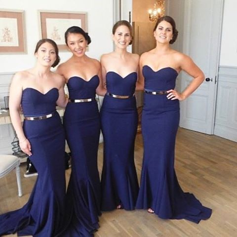 These navy dresses are sure to be a hit with your wedding party. www.agaveofsedona.com