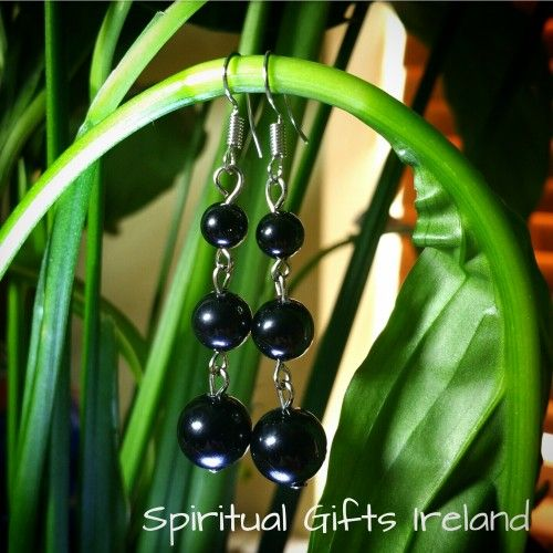 Handcrafted Black Agate Drop Earrings.  Black gemstones represent strength, courage and protection and Black Agate is no different.   Its protective powers shield you from stress, bad dreams and negative energies, giving way to peace and harmony.  When calmness reins spiritual growth increases.     Black Agate encourages contemplation and reflection of events past.  It raises your awareness, grounding you with a sense of reality and giving you the freedom to make pragmatic decisions.  On an…