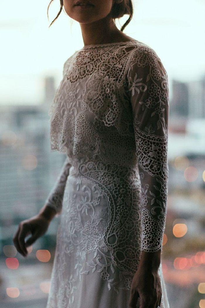 Lace wedding dress #wedding #weddingdress #bohemianweddinggown #bohoweddingdress