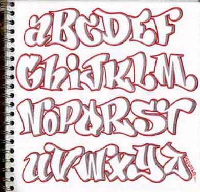 Alphabet Graffiti Letters