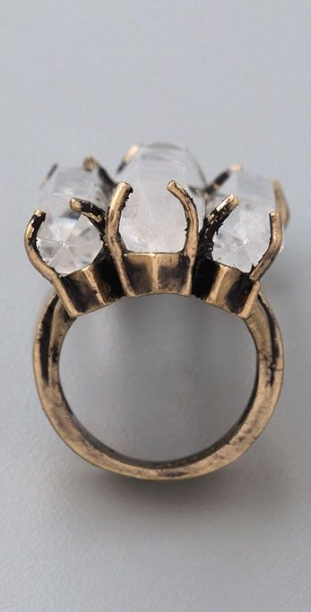 unique shot of a unique ring; i have ALWAYS wanted a 3-stone ring.