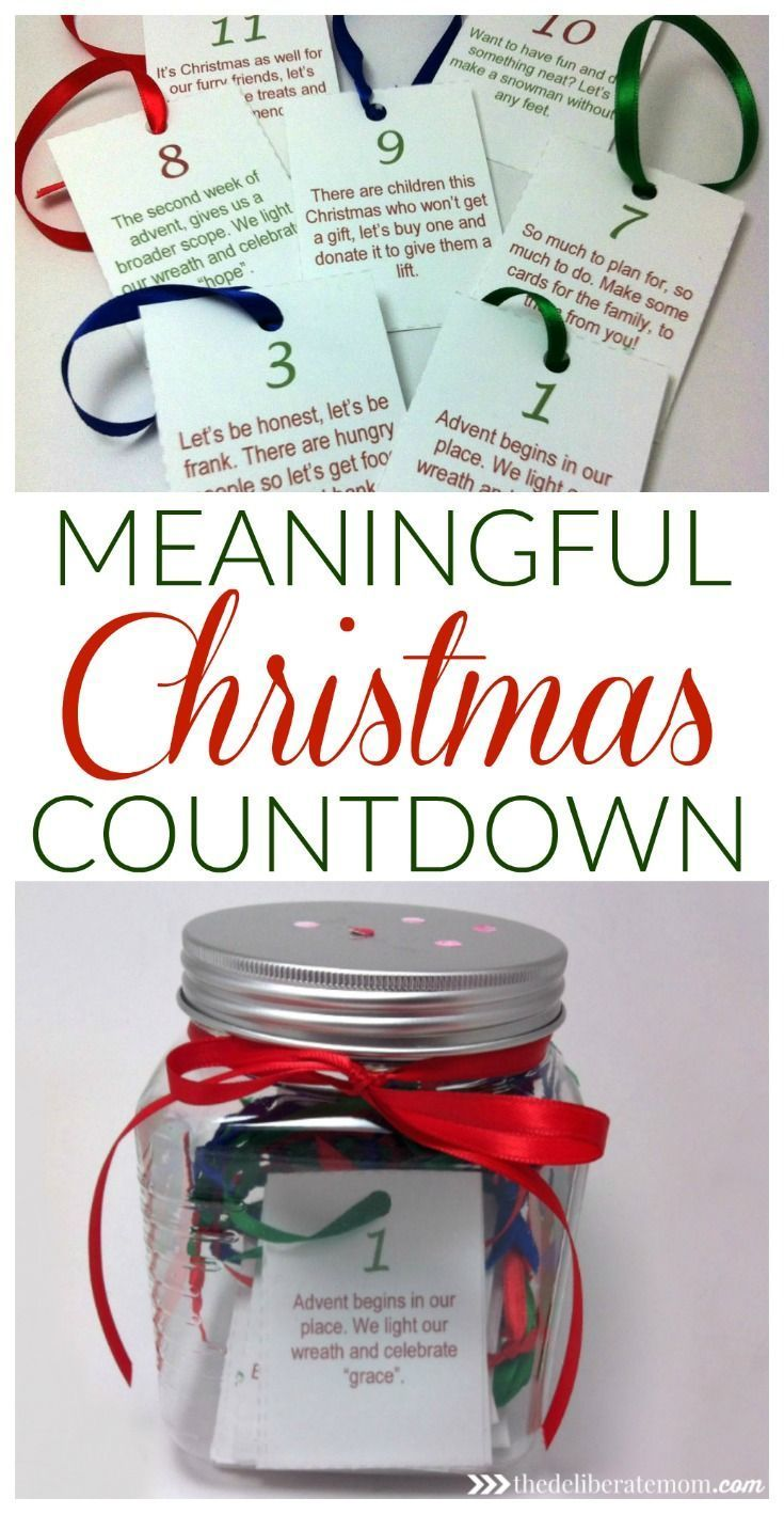 This is a fabulous alternative to an advent calendar. Teach children about the spirit of giving in the days leading up to Christmas. Print off cards for the days leading up to Christmas and list activities on them (i.e. donate food to the food bank, donat