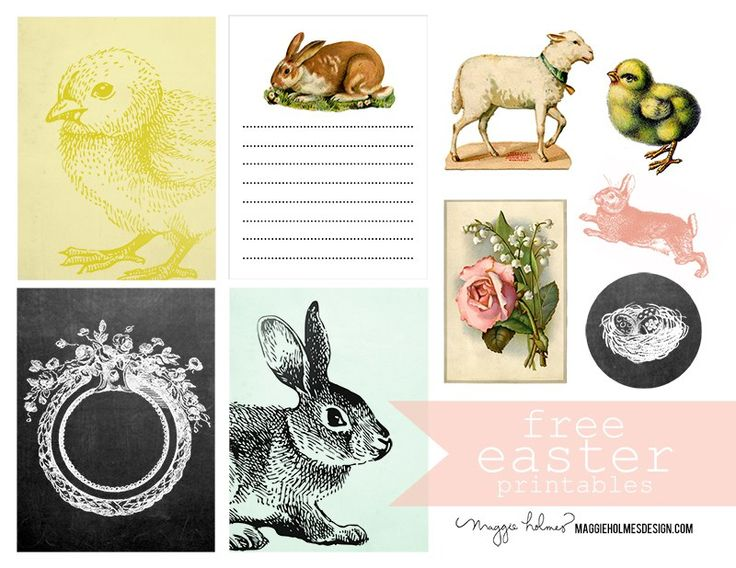 Hi friends! These Vintage Easter Clip Art Images and my FREE Easter Printables a…   – Holidays