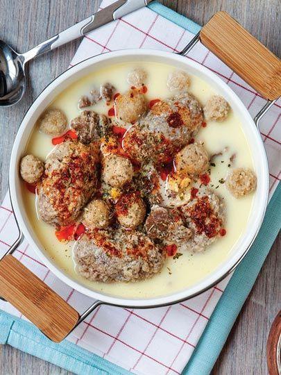 Yoğurtlu akıtmalı köfte Tarifi - Türk Mutfağı Yemekleri - Yemek Tarifleri