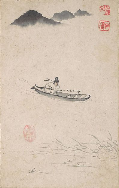 """Shitao (Zhu Ruoji) (Chinese, 1642–1707). Shuhua, Returning Home,  ca. 1695. The Metropolitan Museum of Art, New York. From the P. Y. and Kinmay W. Tang Family, Gift of Wen and Constance Fong, in honor of Mr. and Mrs. Douglas Dillon, 1976 (1976.280a–n)  This work is featured in our """"The Art of the Chinese Album""""  exhibition, on view through March 29, 2015. #AsianArt100"""