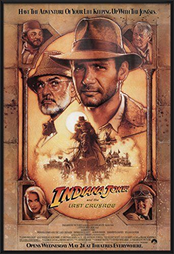 Indiana Jones And The Last Crusade - Framed Movie Poster / Print (Regular Style) (Size: 27 x 40) @ niftywarehouse.com