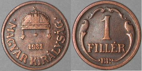 Fillér was the change for Hungarian currency from 1892 till 1999.