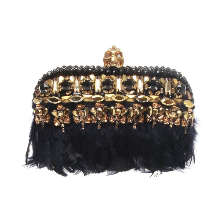 Alexander McQueen Punk embellished leather box clutch theUpstyler  www.theupstyler.com   Ready for a Cocktail Party?