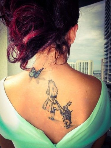 Tatuaggi ispirati ad Alice nel Paese delle Meraviglie