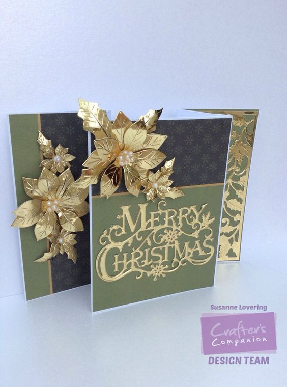 Christmas card made using Crafter's Companion Sara Signature Traditional Christmas Collection. Designed by Susanne Lovering #crafters companion #Bloghop