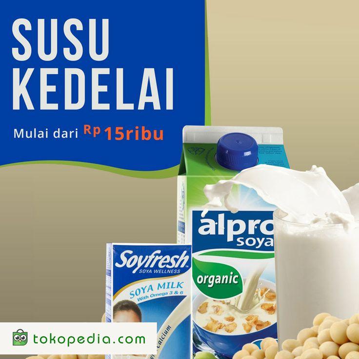 Selain tinggi kalsium, Susu Kedelai punya banyak manfaat lho, seperti mencegah kanker dan serangan jantung.  Yuk beli berbagai merk Susu Kedelai di http://www.tokopedia.com/hot/susu-kedelai mulai dari Rp 15.000,- (harga bervariasi)