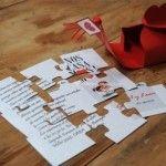 Convite de  casamento criativo - Quebra cabeça