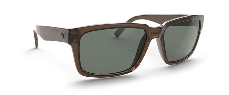 D'Blanc Evil Twin Brown Gloss Retro Gray Sunglasses SMSF5EVIBRV