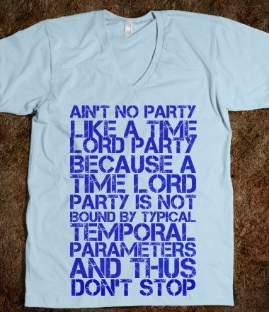 Love this Dr. Who T-SHIRT